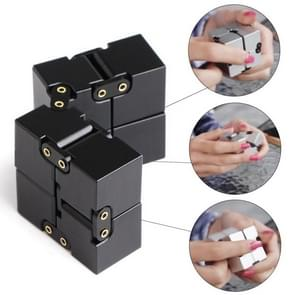 Folding Puzzles Magic Cube Infinity Fidget Cube Pressure Reduction Toy(Black)