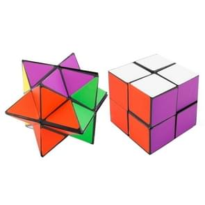 Z9 2 in 1 Colorful Combination Puzzles Magic Cube Reverse Infinity Fidget Cube Pressure Reduction Toy