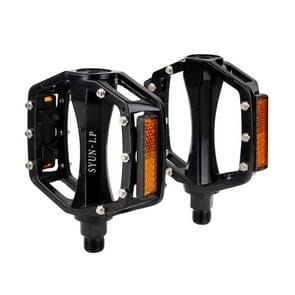 One Pair B861A Ball Bearing Pedals Aluminium alloy + Steel Axle 9/16 inch for Bike MTB BMX (Black)