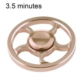 Fidget Spinner Toy Stress Reducer Anti-Anxiety Toy for Children and Adults, 3.5 Minutes Rotation Time, Small Steel Beads Bearing + Aluminum Alloy Material, Wind Wheel(Gold)
