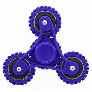 Wheel Gears Fidget Spinner Toy Stress Reducer Anti-Anxiety Toy for Children and Adults, 4 Minutes Rotation Time,  Small Steel Beads Bearing + ABS Material(Dark Blue)