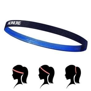 AONIJIE High Elastic Tennis Headband Sweat Bands, Unisex Outdoor Running Riding Sweat Guide Bands, Head Circumference: 46-60cm(Blue)
