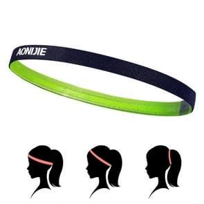 AONIJIE High Elastic Tennis Headband Sweat Bands, Unisex Outdoor Running Riding Sweat Guide Bands, Head Circumference: 46-60cm(Light Green)