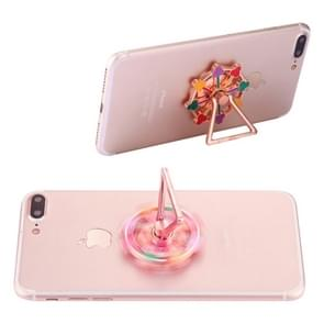 Flower Ferris Wheel Shape Phone Triangle Holder Fidget Spinner Toy Stress Reducer Anti-Anxiety Toy, About 0.2 Minutes Rotation Time