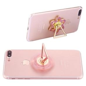 Flower Shape Phone Triangle Holder Fidget Spinner Toy Stress Reducer Anti-Anxiety Toy, About 0.2 Minutes Rotation Time(Pink)