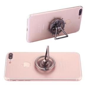 Rudder Wheel Shape Phone Triangle Holder Fidget Spinner Toy Stress Reducer Anti-Anxiety Toy, About 0.2 Minutes Rotation Time(Grey)
