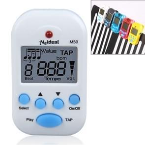 Mini Professional Electronic Piano Violin Clip High-quality Metronome Digital Tuner M50(White)