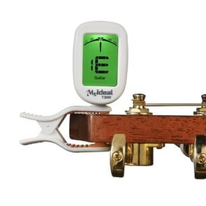 Guitar Tuner Clip on-Accurate Chromatic, Acoustic Guitar Bass Banjo Violin Ukulele Tuner(White)