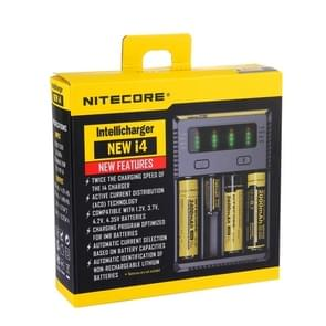 Nitecore NEW i4 Intelligent Digi Smart Charger with LED Indicator for 14500, 16340 (RCR123), 18650, 22650, 26650, Ni-MH and Ni-Cd (AA, AAA) Battery