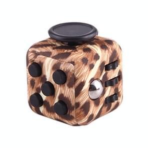 Cheetah patroon Fidget Cube Relieves Stress en Anxiety Attention Toy voor Children en Adults