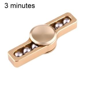 Fidget Spinner Toy Stress Reducer Anti-Anxiety Toy for Children and Adults, 3 Minutes Rotation Time, Small Steel Beads Bearing + Aluminum Material(Gold)