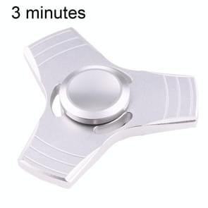 Fidget Spinner Toy Stress Reducer Anti-Anxiety Toy for Children and Adults, 3 Minutes Rotation Time, Small Steel Beads Bearing + Aluminum Material, Three Leaves(Silver)