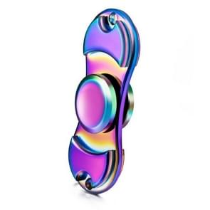 Fidget Spinner Toy Stress Reducer Anti-Anxiety Toy for Children and Adults, 3 Minutes Rotation Time, Small Steel Beads Bearing + Zinc Alloy Material, Colorful Two Leaves