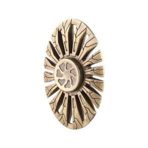 Butterfly Fish Type Fidget Spinner Toy Stress Reducer Anti-Anxiety Toy for Children and Adults, 3.5 Minutes Rotation Time, R188 Ceramics Beads Bearing + Zinc Alloy Material(Gold)