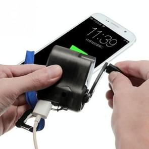 Outdoor Emergency Portable Hand Power Dynamo Hand Crank USB Charging Charger (Black)