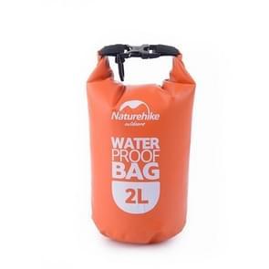 Naturehike 2L Outdoor PVC Cloth Trekking River Drifting Waterproof Bag Ultralight Swimming Bag(Orange)