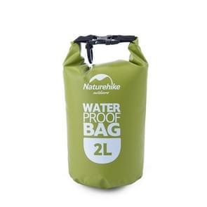 Naturehike 2L Outdoor PVC Cloth Trekking River Drifting Waterproof Bag Ultralight Swimming Bag(Green)