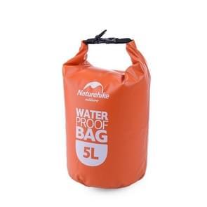 Naturehike 5L Outdoor PVC Cloth Trekking River Drifting Waterproof Bag Ultralight Swimming Bag(Orange)