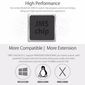 ORICO 6629US3-C 2-bay USB 3.0 Type-B 2.5 inch / 3.5 inch SATA HDD / SSD External Storage Enclosure Hard Disk Box(Black)