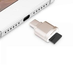 POFAN F05 USB-C / Type-C 3.1 to Micro SD Card (TF Card) Reader Adapter for Macbook / Google Chromebook / Nokia N1 Tablet PC / OTG Function Smartphones(Gold)