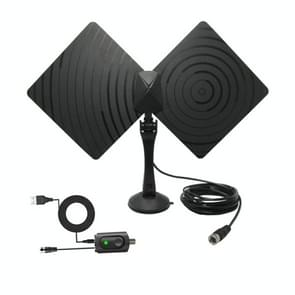 AN-1008B 5dBi/25dBi Indoor HDTV Antenna with Holder, VHF170-230/UHF470-862MHz(Black)