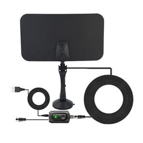 AN-1001 5dBi/25dBi Indoor  HDTV Antenna with Sucker, VHF170-230/UHF470-862MHz(Black)