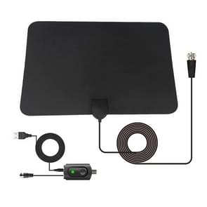 AN-1003 5dBi/25dBi Indoor HDTV Antenna, VHF170-230/UHF470-862MHz(Black)