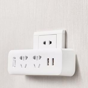 orgineel Xiaomi Mijia Power Strip Converter draagbare Plug Travel Adapter met 5V / 2.1A Dual USB Fast laad Ports voor Home, Office
