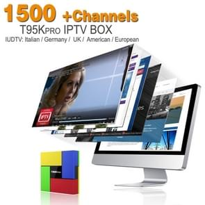 T95Kpro (S912+2G+16G) 4Kx2K UHD Smart Android 6.0 S912 Octa Core 2.0GHz TV BOX Player, RAM: 2GB, ROM: 16GB, Support 10/100/1000M Ethernet & Dual Band WiFi & Bluetooth & SD Card