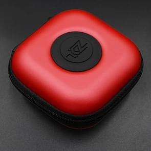 KZ Data Wire Lader Koptelefoon draagbare PU Receiving hoesje(rood)