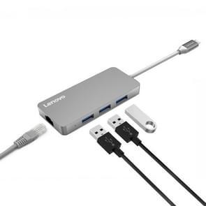 Lenovo C506 4 in 1 RJ45 Port & 3 x USB3.0 Ports to USB-C / Type-C HUB Adapter(Grey)