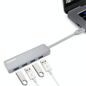 Lenovo C610 4 in 1 4 x USB3.0 Ports to USB-C / Type-C HUB Adapter(Grey)
