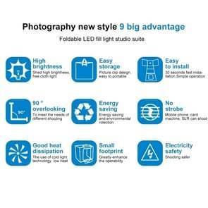 PULUZ 40cm Folding Portable 30W 5500K White Light  Photo Lighting Studio Shooting Tent Box Kit with 6 Colors Backdrops (Black, Orange, White, Red, Green, Blue), Size: 40cm x 40cm x 40cm, AU Plug