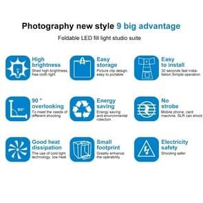 PULUZ 40cm Folding Portable 30W 5500K White Light  Photo Lighting Studio Shooting Tent Box Kit with 6 Colors Backdrops (Black, Orange, White, Red, Green, Blue), Size: 40cm x 40cm x 40cm, UK Plug with BS Certificate