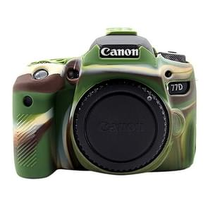 PULUZ Soft Silicone Protective Case for Canon EOS 77D(Camouflage)