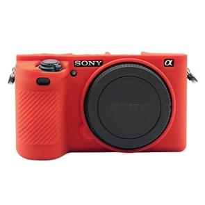 PULUZ Soft Silicone Protective Case for Sony ILCE-6500(Red)