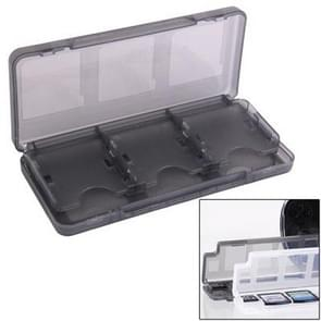 6 in 1 High Quality HEPD Material Game Card Box for Nintendo 3DS / 3DS LL / XL (Dark Grey)