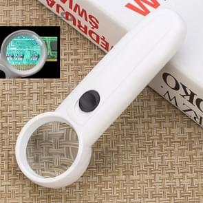 15X Handheld Exclamation Mark Type Magnifier with 2 LED