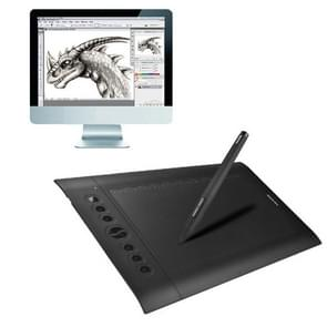 HUION H610 Pro 10 x 6.25 inch 5080 LPI 8 ExpressKey Signature Tablet Board with Digital Pen, Compatible with Window XP / 7 / Vista / 8 /10(Black)