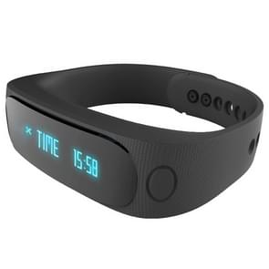 E02 Bluetooth 4.0 Smart Sports Bracelet , Support Camera Remote / Video Remote / Sport Tracking / Sleep Tracking / Watch Function, etc(Black)