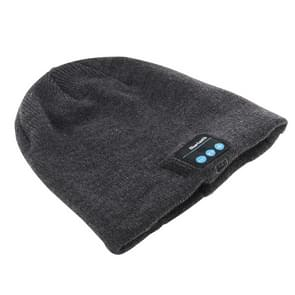 Knitted Bluetooth Headset Warm Winter Hat with Mic for Boy & Girl & Adults(Grey)