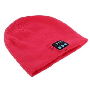 Knitted Bluetooth Headset Warm Winter Hat with Mic for Boy & Girl & Adults(Magenta)