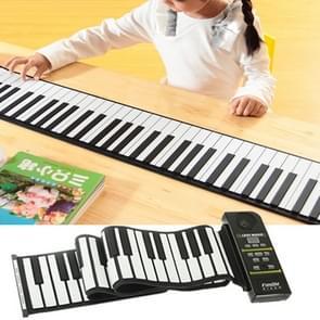 88 Keys Portable MIDI Silicone Flexible Roll Up Piano, Keyboard: 133 x 14.2 x 0.6cm