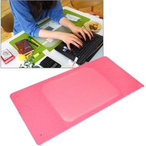 Multi-Functional Office / Home Desk Table Keyboard Mat(Pink)
