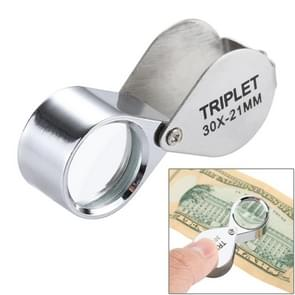 30X Jewellry Magnifier with 2 LED Lights(Silver)