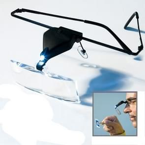 1.5X / 2.5X / 3.5X Magnifier Glasses with LED Light(Black)