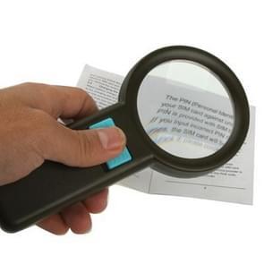 3X Zoom Magnifier Glass with 10 LED Light, Lens Effective Diameter: 67mm (Black)