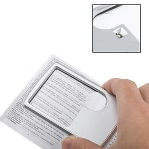 1 LED Illuminated Credit Card Design 6X / 3X Jewelry Magnifier(Silver)