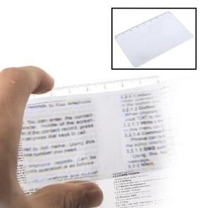 3X Credit Card Design Fresnel Lens Magnifier with 8cm Length Scale(Transparent)