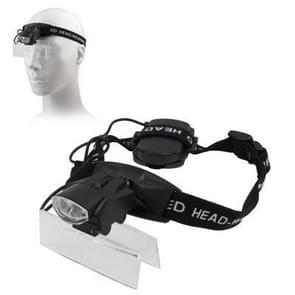 2 LEDs Headband Illuminating Dual Lens Magnifier with 5 Replacement Lenses